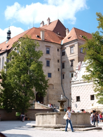 Buildings around the second courtyard of the Cesky Krumlov castle, Czech Republic