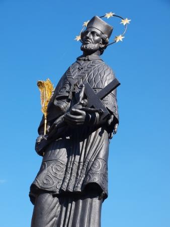 republika: Figure of St John of Nepomuk, Cesky Krumlov, Czech Republic