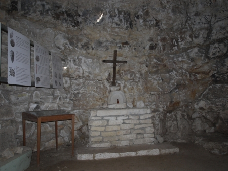 Underground chapel in a former quarry, Pulawy, Poland