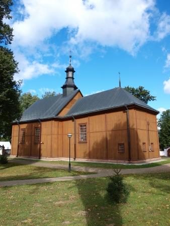 Wooden church of St Theodore, Wojciechow, Poland Stock Photo - 15347471