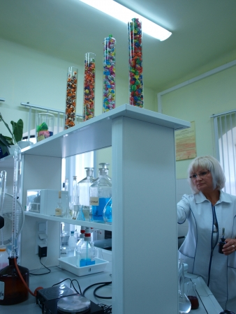 Laboratory at the candy factory Pszczolka, Lublin, Poland