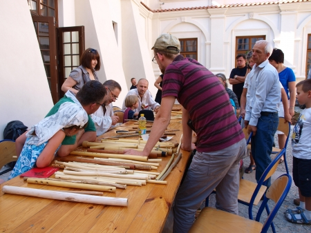 lubelszczyzna: Workshop - making instruments - Jagiellonian Fair (17th-19th August 2012), Lublin, Poland, August 19th 2012