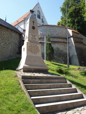 cud: A monument to Jozef Pilsudski on the 78th anniversary of the Battle of Warsaw, Kazimierz Dolny, Poland