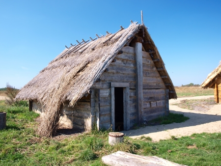 slavs: Reconstruction of an early-medieval burg and settlement, Zmijowiska, Poland.