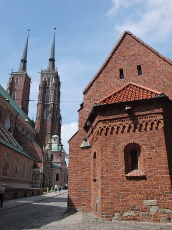 Cathedral of St John The Baptist and Church of St Giles, Wroclaw, Poland Stock Photo - 15619626