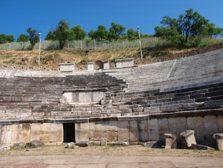 teatro antico: Le rovine del teatro antico nella citt� di Heraclea Lyncestis nei pressi di Bitola, Macedonia