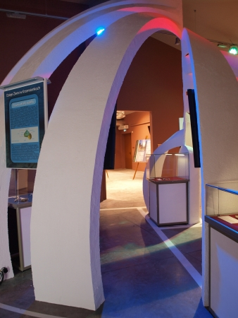 neolithic: Modern multimedia museum at the neolithic mine of striped flint, Krzemionki, Poland