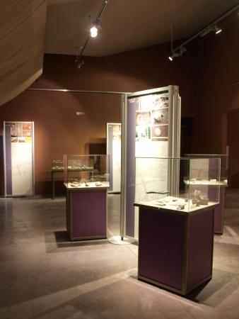 Modern multimedia museum at the neolithic mine of striped flint, Krzemionki, Poland
