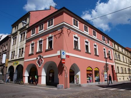 ceske: Streets of Ceske Budejovice, Czech Republic Editorial