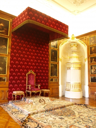 Interiors of the Archbishop Palace in Kromeriz, Czech Republic