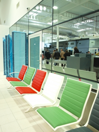 lubelszczyzna: Departure and arrival lounge at the Lublin Airport, Swidnik, Poland