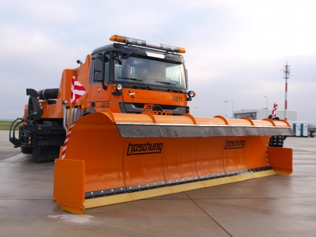 lubelszczyzna: A snow plough shown on the Open Day at the new Lublin Airport, Swidnik, Poland, December 1st 2012