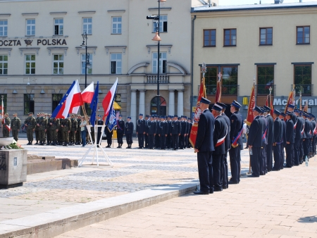 140 years of Lublin National Fire Department, Litewski Square, Lublin, Poland Stock Photo - 19510166