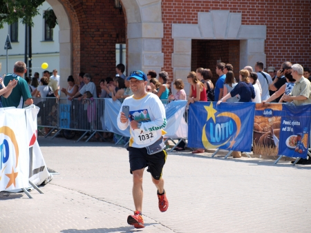 lubelszczyzna: Participant of the start of the first Lublin Marathon, 8th June 2013, Lublin, Poland Editorial