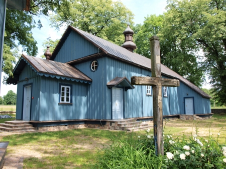 Wooden Orthodox church in eastern Poland Stock Photo - 20406260