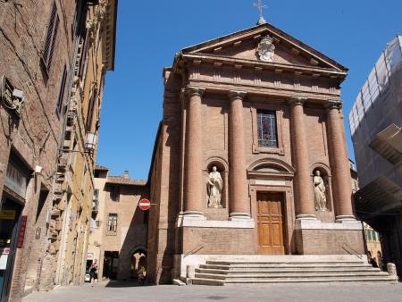 St Christopher church, Siena, Italy Stock Photo - 21519446