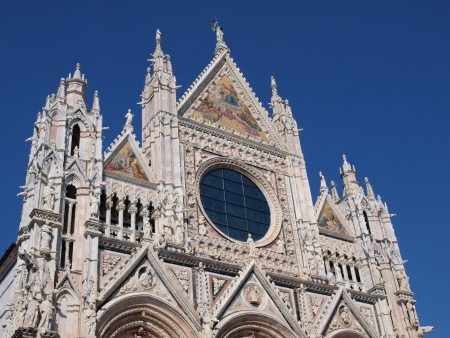 Sienese cathedral of the Most Holy Mary of Asumption, Siena, Italy Stock Photo - 21786772