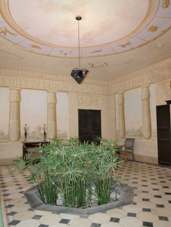 The Egyptian room at Villa San Martino, Napoleon Bonapartes private house during his exile on the Isle of Elba, San Martino, Italy