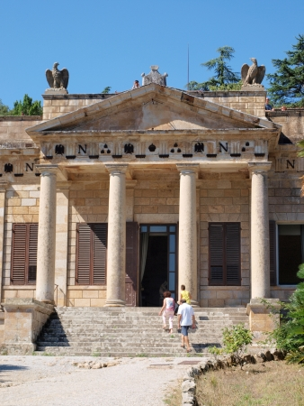 exile: Villa San Martino, Napoleon Bonapartes private house during his exile on the Isle of Elba, San Martino, Italy