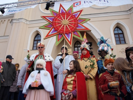 melchor: The traditional parade of the bibilical Three Wise Men, Lublin, Poland, January 6th 2014