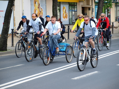 lubelszczyzna: 4th edition of Cycling Parade, Lublin, Poland, May 18th
