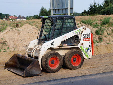 lubelszczyzna: The building site of Lublin ring road, Lublin, Poland, August 3rd 2014 Editorial