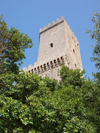 The towers of Pepoli, Erice, Sicily, Italy photo