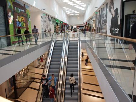lubelszczyzna: Tarasy Zamkowe shopping centre Lublin Poland Editorial
