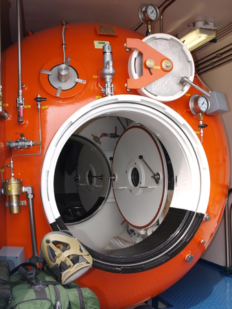 chamber: A hyperbaric chamber at the Radom Air Show, 22 August 2015 Editorial