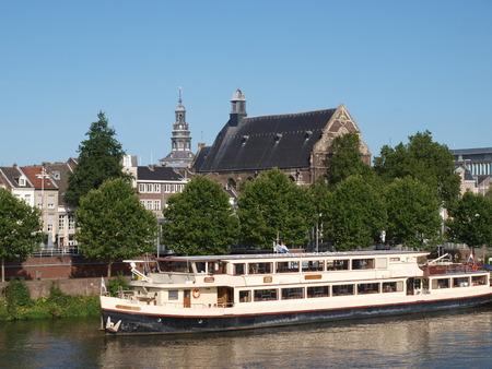 maas: Cruise ship at the Maas river, Maastricht, The Netherlands