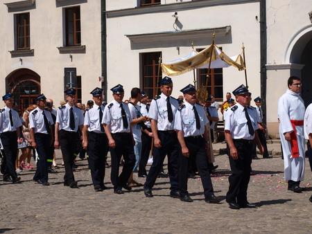 kazimierz dolny: Corpus Christi procession, Kazimierz Dolny Poland June 2015