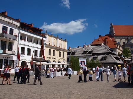 kazimierz dolny: Corpus Christi procession, Kazimierz Dolny June 2015