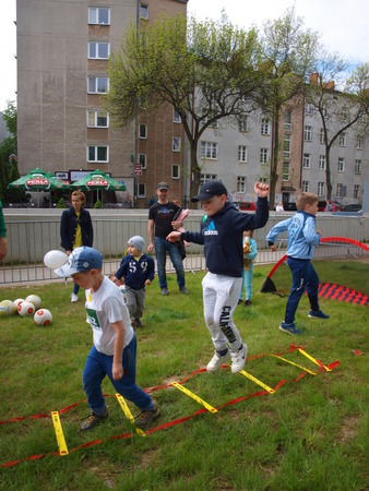 lublin: Activities for children at the 4th edition of Lublin marathon, 05.08.2016, Lublin, Poland