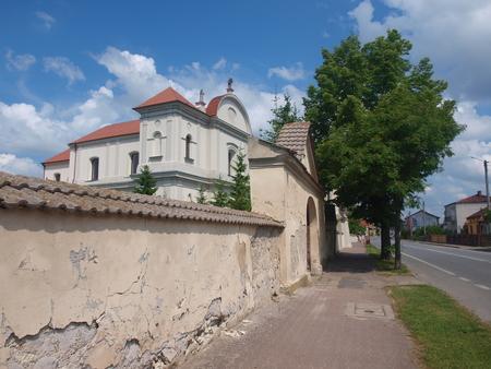 monastic sites: Corpus Christi church, Jozefow nad Wisla, Poland Stock Photo