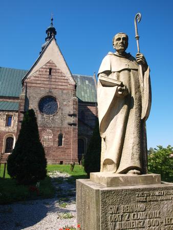Statue of St Bernard of Clairvaux, Wachock monastery, Poland