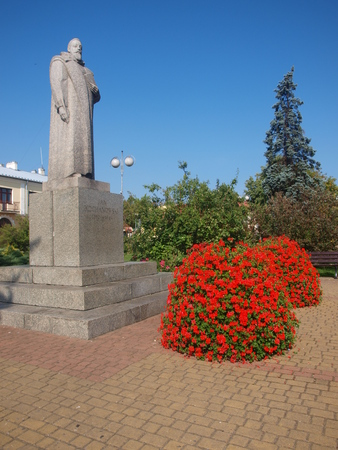 The monument to Jan Kochanowski, the Polish poet, Zvolen, Poland