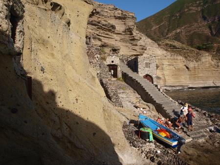 eolie: Stony beach, Pollara, Isle of Salina, Sicily, Italy Editorial