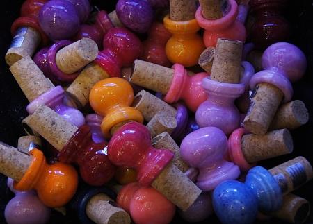 colored backgound: coloured cork                      Stock Photo