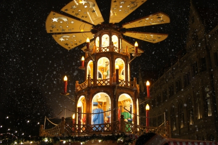Christmas merry-go-round                    Stock Photo