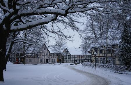 schneebedeckten Land Editorial