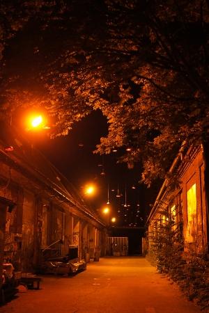 night darkalley in Berlin