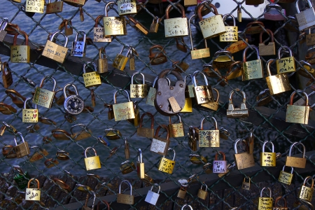 Bridg in Paris witch padlocks Stock Photo - 17269569