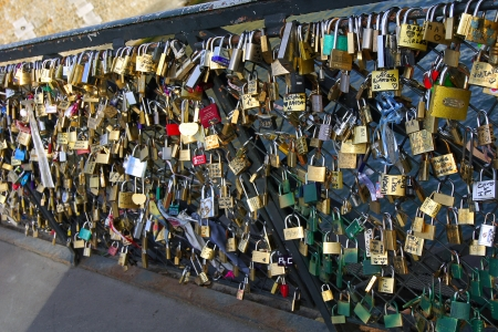 Bridg in Paris witch locks Stock Photo - 17269570