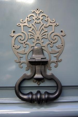 photo, jpg, figured copper door-handle Stock Photo - 17277995