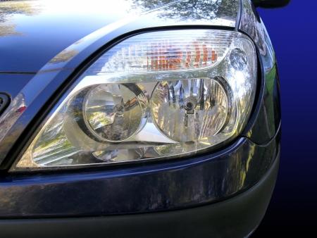 Foto, jpg, Auto-Scheinwerfer Lizenzfreie Bilder