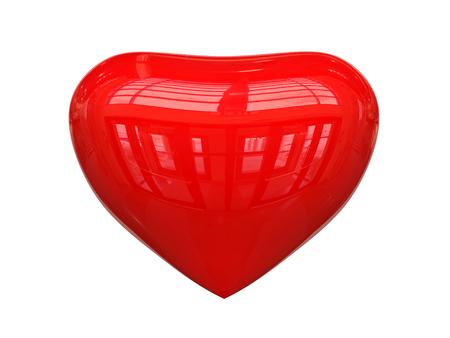 Glossy Metal Heart