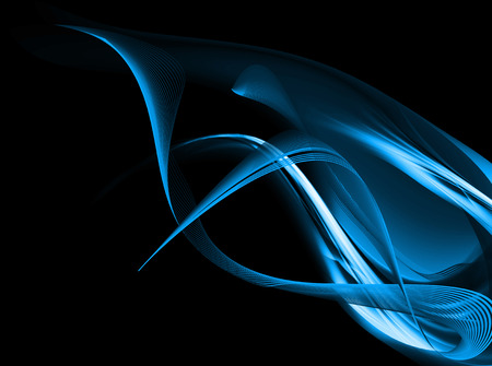Blue Abstract Flame On Dark Background