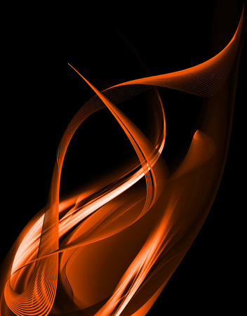 Orange Abstract Flame On Dark Background