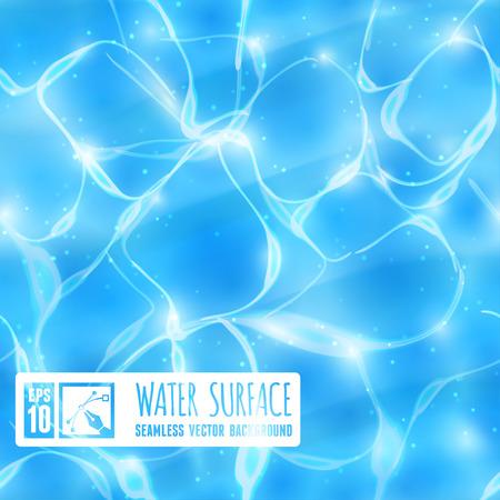 Fondo inconsútil de la superficie del agua. Ilustración vectorial Vectores