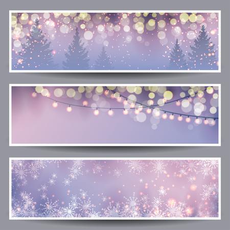 Set of Christmas Banners illustration Vettoriali